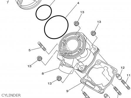 Yamaha YZ85 2002 (2) USA parts lists and schematics