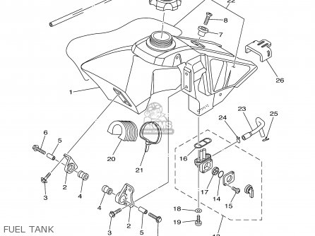 Yamaha Yz85 2003 (3) Usa parts list partsmanual partsfiche