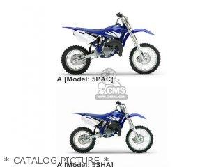 Yamaha YZ85 2005 5PAA EUROPE 1D5PA-100E1 parts lists and