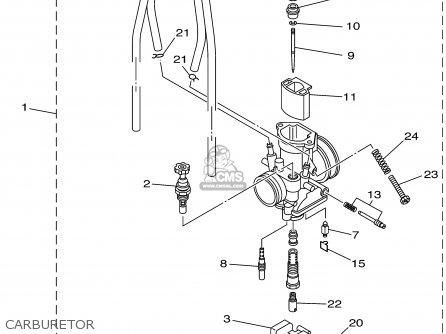 Yamaha Yz85p 2002 parts list partsmanual partsfiche