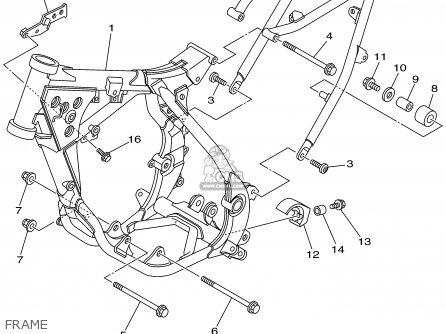 Yamaha Yz85p 2002 parts list partsmanual partsfiche