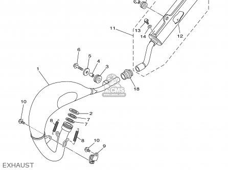 Yamaha Yz85r 2003 parts list partsmanual partsfiche