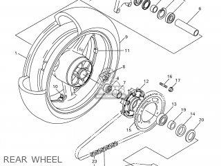 Yamaha YZF-R1 1998 4XV1 ENGLAND 184XV-300E2 parts lists