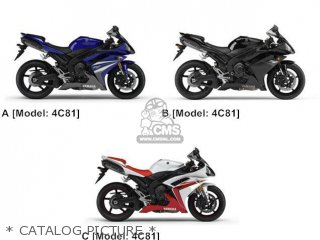 Yamaha YZF-R1 2007 4C81 EUROPE 1F4C8-352S1 parts lists and