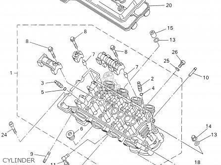 Yamaha Yzf-r1n/nc 2001 parts list partsmanual partsfiche