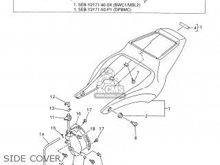 Yamaha YZF-R6 2000 5EB5 ENGLAND 105EB-300E3 parts lists
