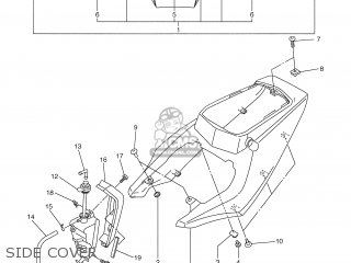 Yamaha YZF-R6 2003 5SL1 DENMARK 1B5SL-300E2 parts lists