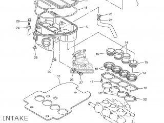 Yamaha YZF-R6 2003 5SL1 GERMANY 1B5SL-332G4 parts lists