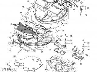 Yamaha YZF-R6 2007 2C0B ENGLAND 1F2C0-300E1 parts lists