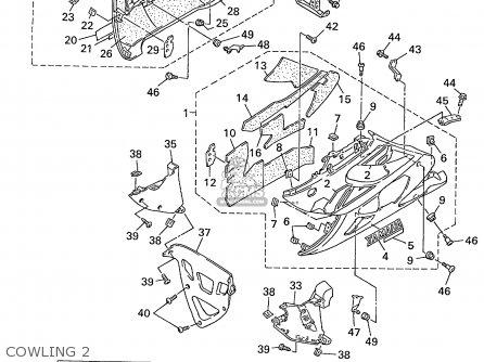 Yamaha Yzf600r Yzf600rc 1999 (x) Usa California parts list