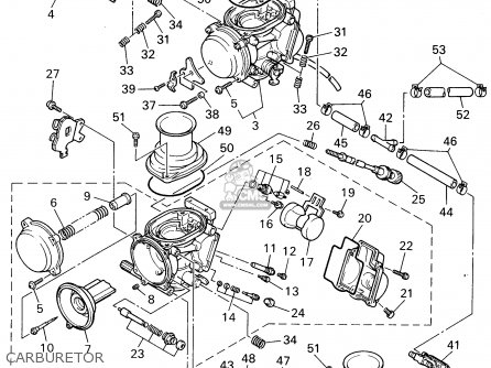 Yamaha Yzf600rg 1995 parts list partsmanual partsfiche