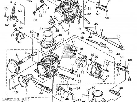 Yamaha Yzf600rj/rjc 1997 parts list partsmanual partsfiche