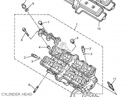 Yamaha Yzf600rk/rkc 1998 parts list partsmanual partsfiche