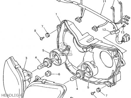Yamaha YZF750R 1994 (R) USA parts lists and schematics