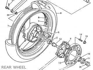 Yamaha YZF750R 1995 4FM3 FRANCE 254FM-351F1 parts lists