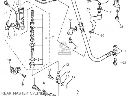 Yamaha YZF750R 1996 (T) USA parts lists and schematics