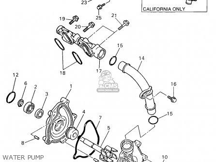 Yamaha YZF750R YZF750RC 1997 (V) USA CALIFORNIA parts