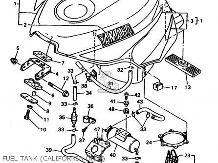 Yamaha YZF750R YZF750RC 1998 (W) USA CALIFORNIA parts