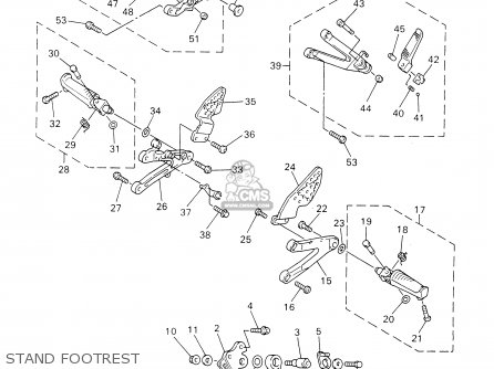 Yamaha YZFR1 YZFR1C 2000 (Y) USA CALIFORNIA parts lists