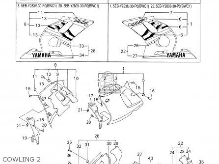 Yamaha YZFR6 YZFR6C 2000 (Y) USA CALIFORNIA parts lists