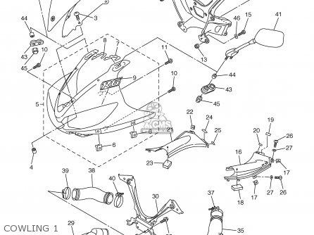 Yamaha YZFR6 YZFR6C 2003 (3) USA CALIFORNIA parts lists