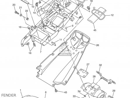Yamaha Yzfr6 Yzfr6c 2003 (3) Usa California parts list