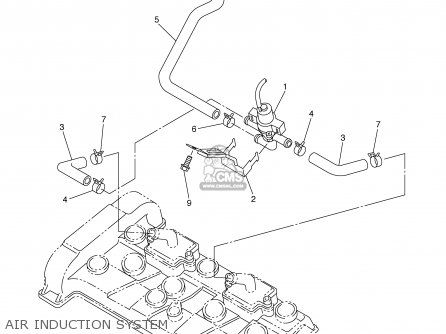 Yamaha Yzfr6s Yzfr6sc 2003 (3) Usa California parts list