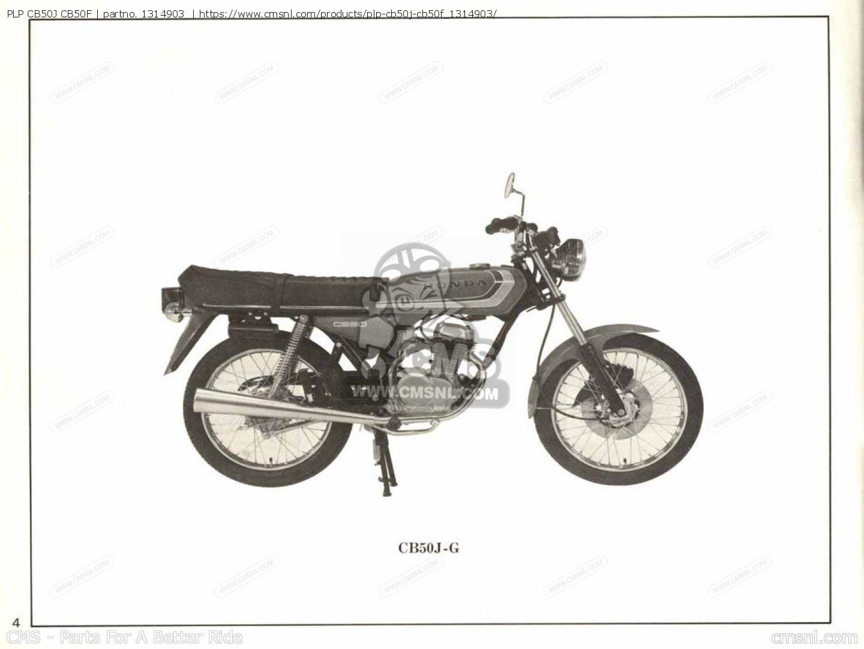 (1314904) Plp Cb50j Cb50f Parts Manuals 1314903