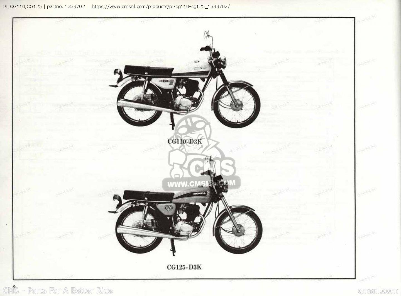 (1339703) Pl Cg110,cg125 Parts Manuals 1339702
