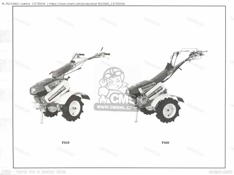 (13735045) Pl F610/660 Parts Manuals 13735044