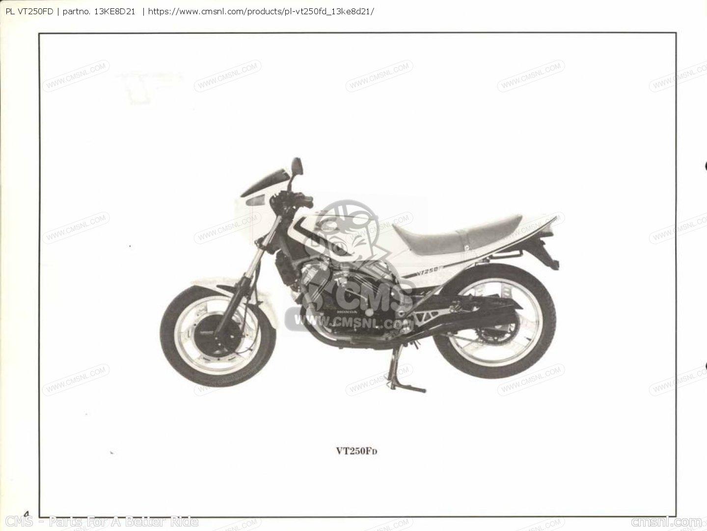 (13ke8d22) Pl Vt250fd Parts Manuals 13KE8D21