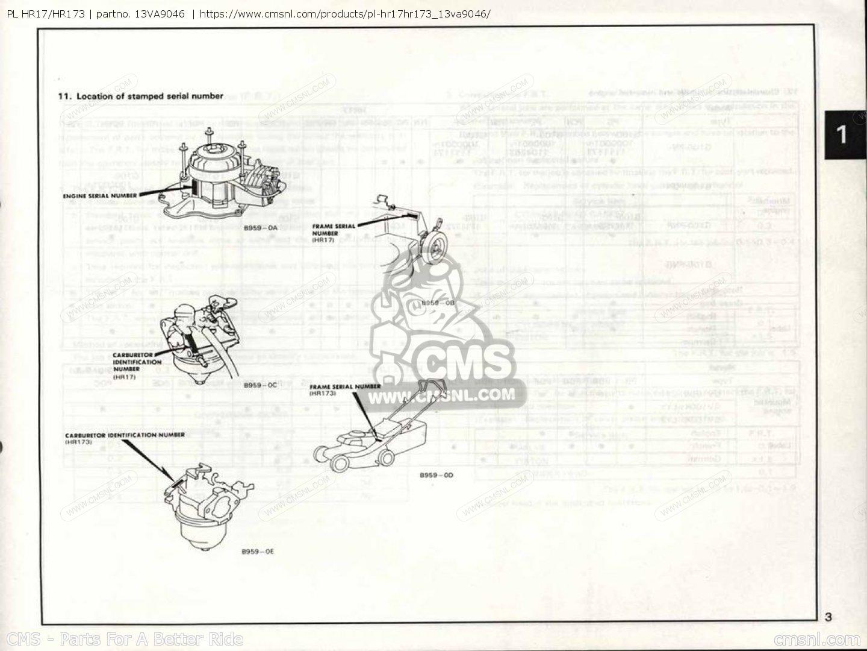 Honda hr173 manual
