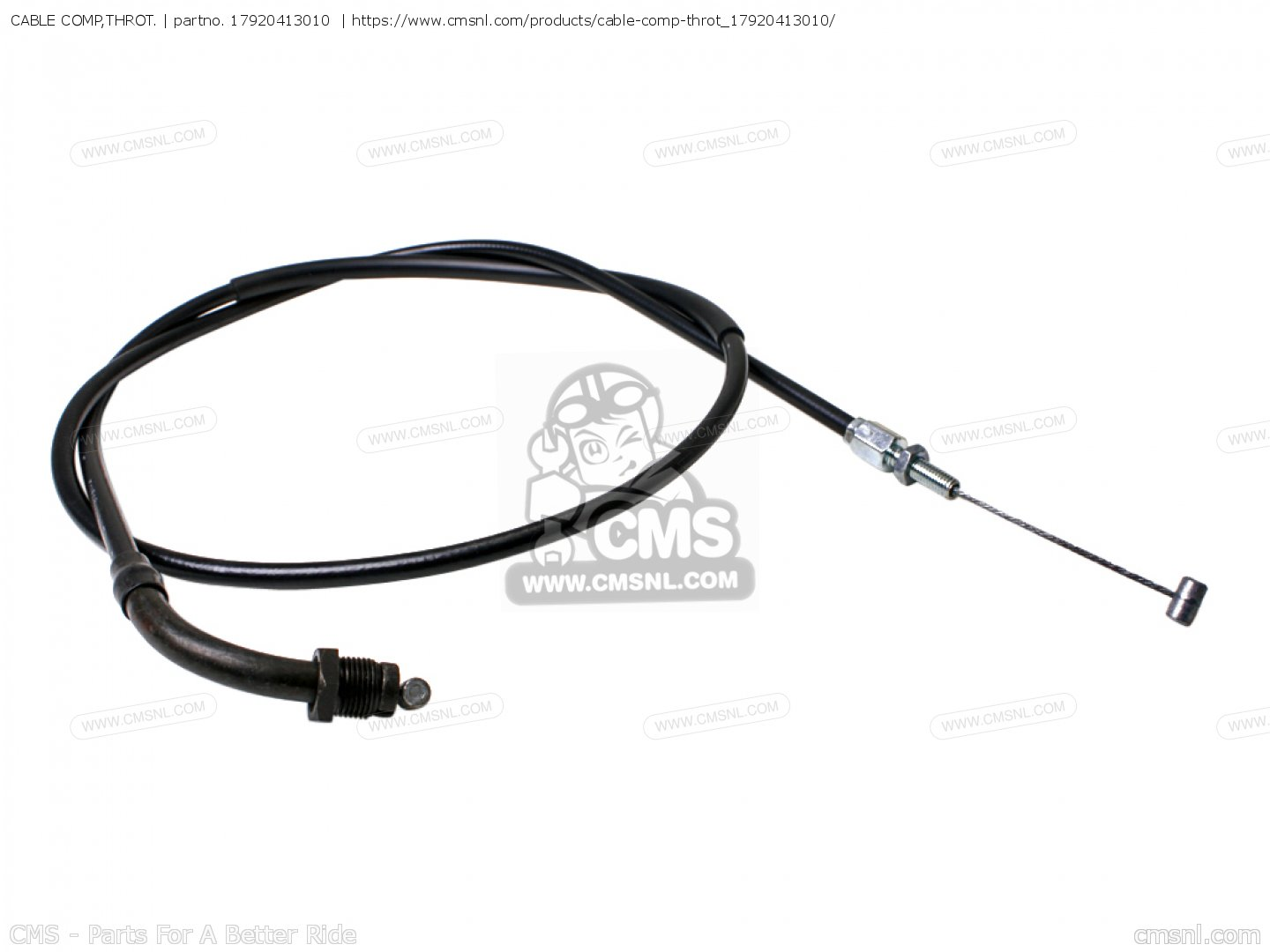 (17920415010) Cable Comp,throt. Cm400a Hondamatic 1980 (a
