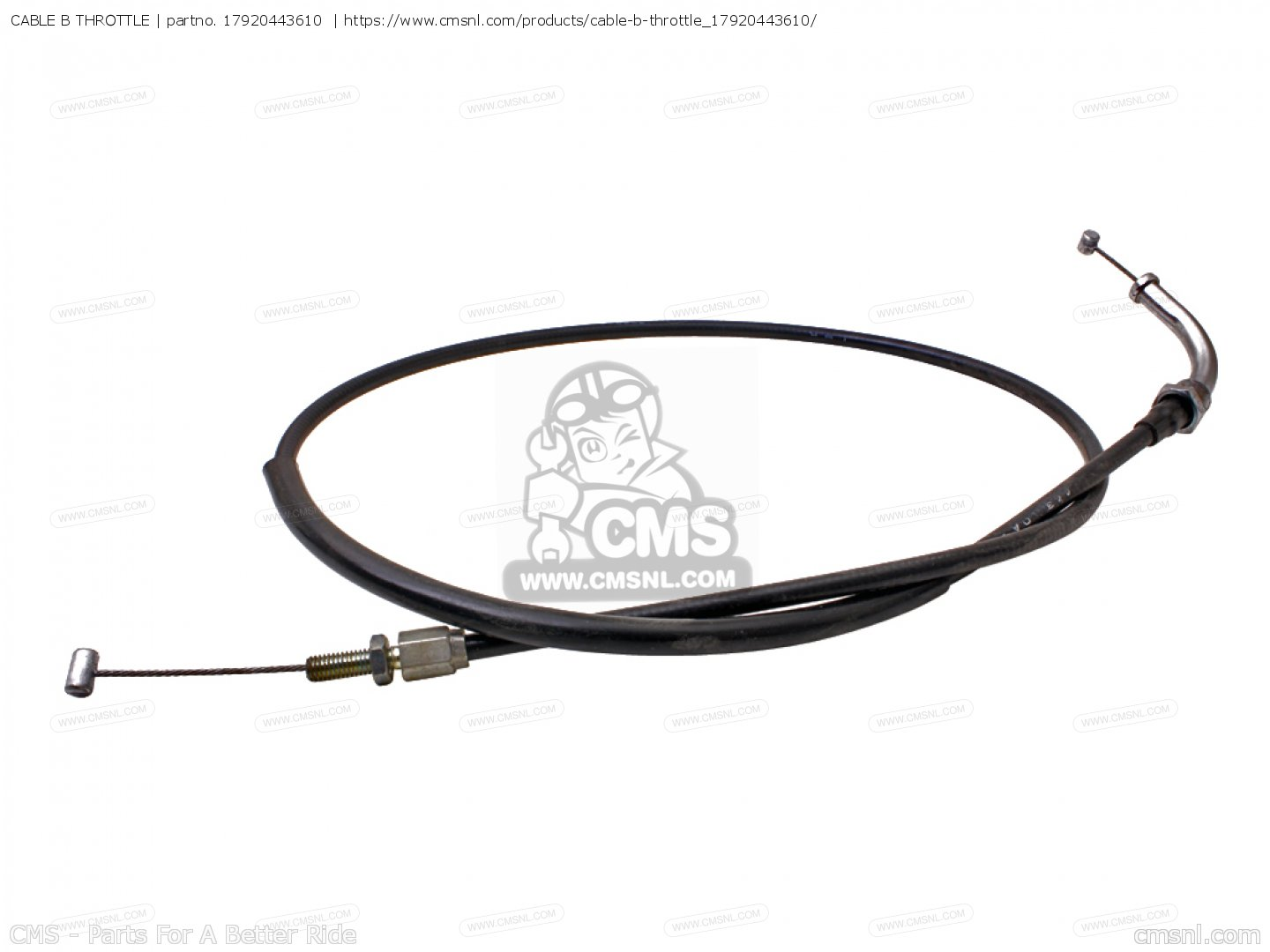 CABLE B THROTTLE for CB400N 1978 EUROPEAN DIRECT SALES