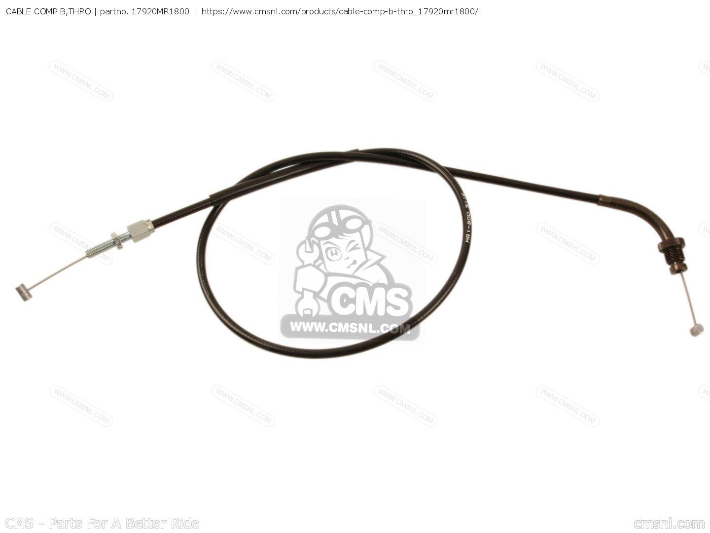 CABLE COMP B,THRO for VT600C SHADOW 1994 (R) AUSTRIA / KPH