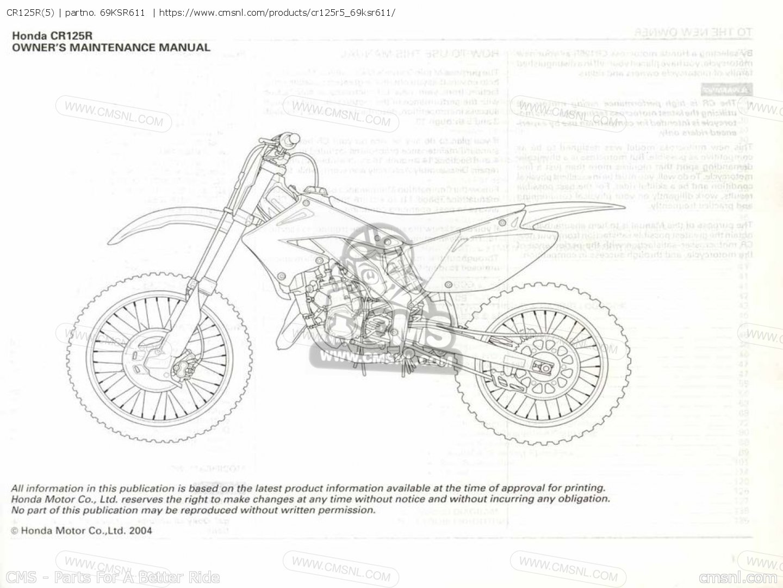 Cr125r(5) Shop Manuals 69KSR611