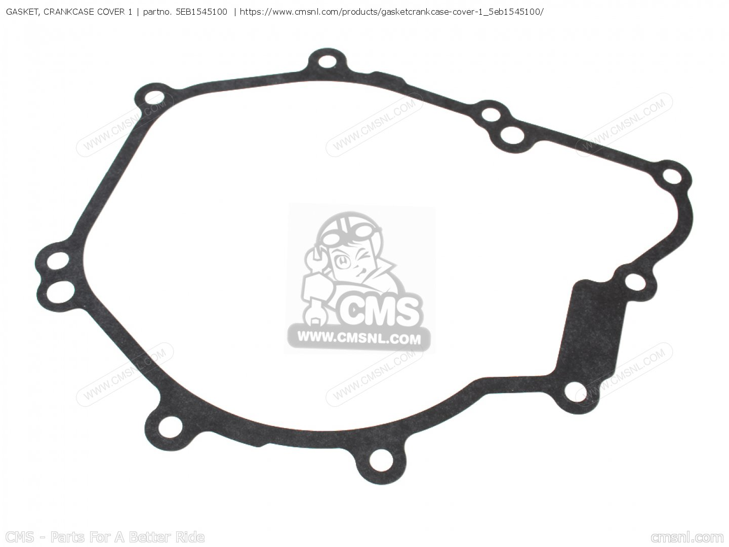 GASKET, CRANKCASE COVER 1 for YZF-R6 2002 5MTB HOLLAND