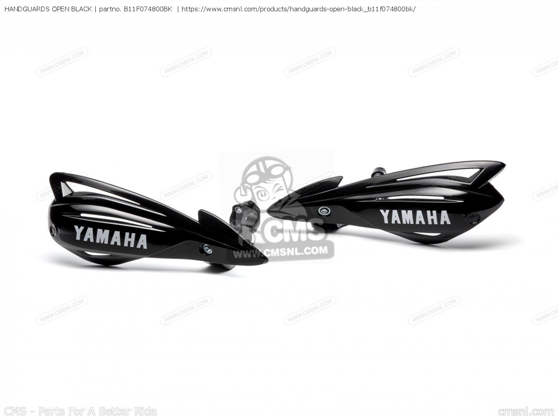 B11f Bk Handguards Open Black Yamaha