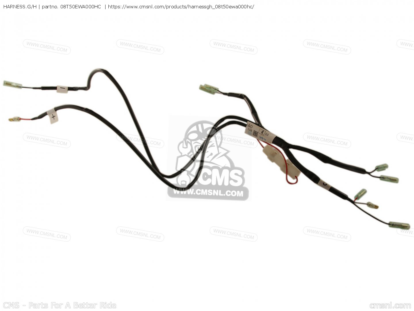 HARNESS.G/H for NT700V 2006 (6) EUROPEAN DIRECT SALES