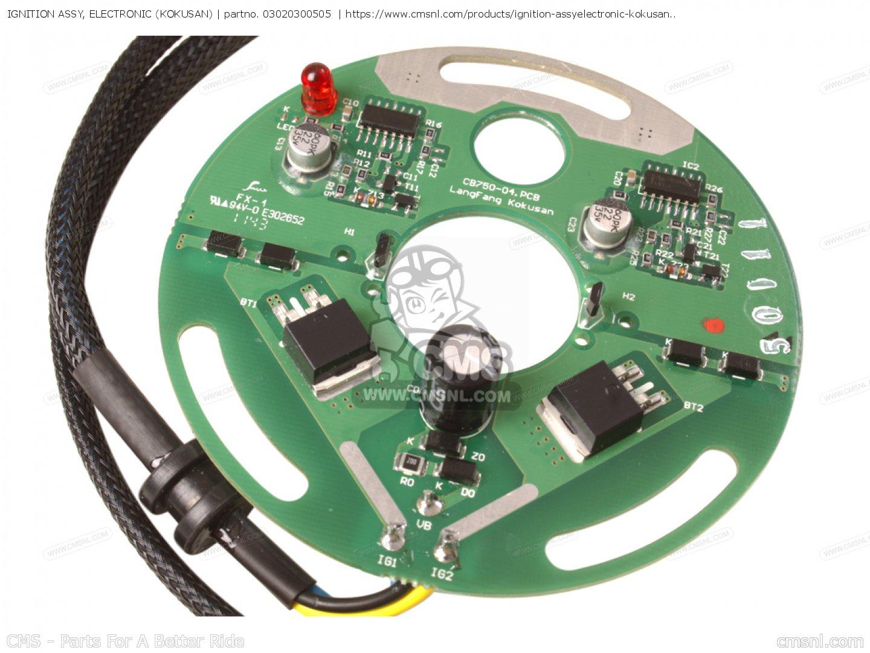 hight resolution of cb750k4 four 1974 usa ignition assy electronic kokusan 03020300505 for honda