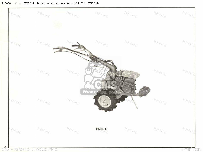 Pl F600 Parts Manuals 13727044