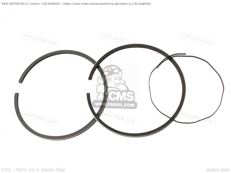 Ring Set,piston O Nh125 Aero 125 1984 (e) Usa 13013KG8305