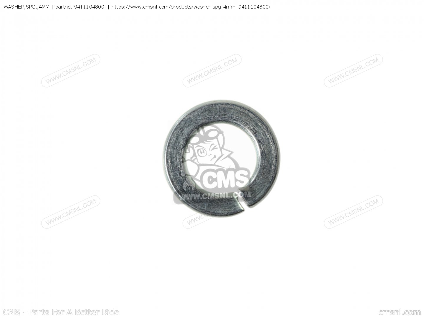 WASHER,SPG.,4MM for CB400N 1981 (B) GERMANY /TYPE 3 20 PS