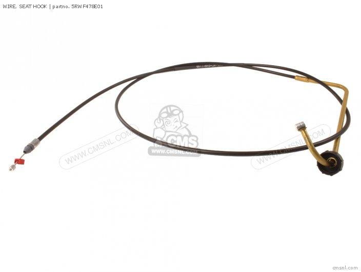 WIRE, SEAT HOOK for CS50 JOG R 2003 5RW7 GREECE 1B5RW