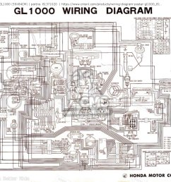 wiring diagram poster gl1000 59x84cm other 81371020 honda goldwing gl1800 wiring diagram honda goldwing wiring diagrams [ 1440 x 1024 Pixel ]