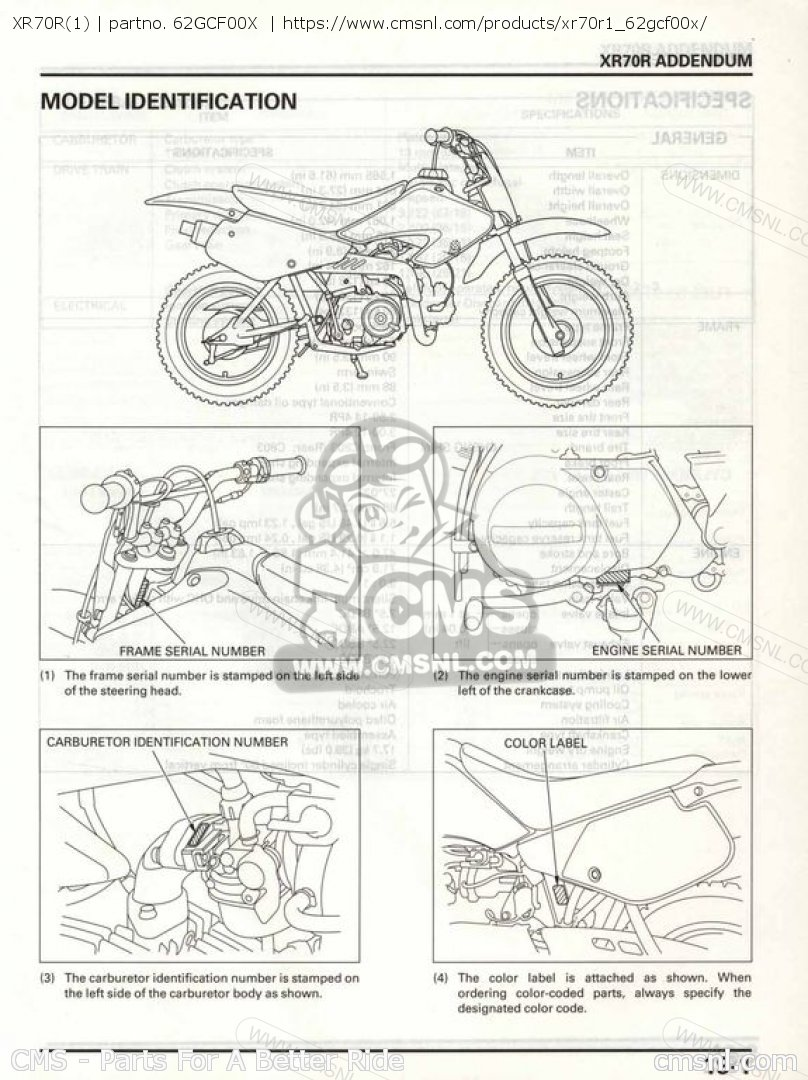 Honda Xr70 Manual Auto Electrical Wiring Diagram Autronic Smc Xr70r1 Shop Manuals 62gcf00x