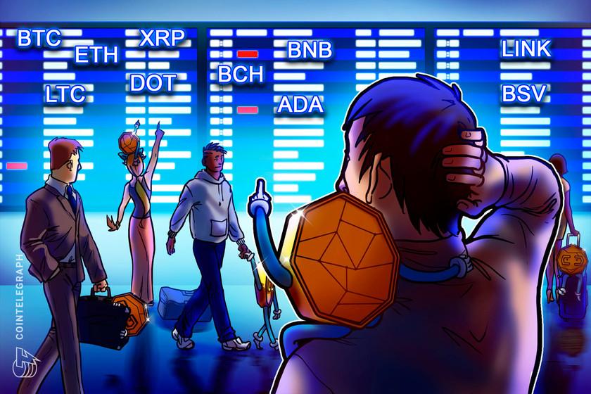 Price analysis 10/14: BTC, ETH, XRP, BCH, BNB, LINK, DOT, ADA, LTC, BSV