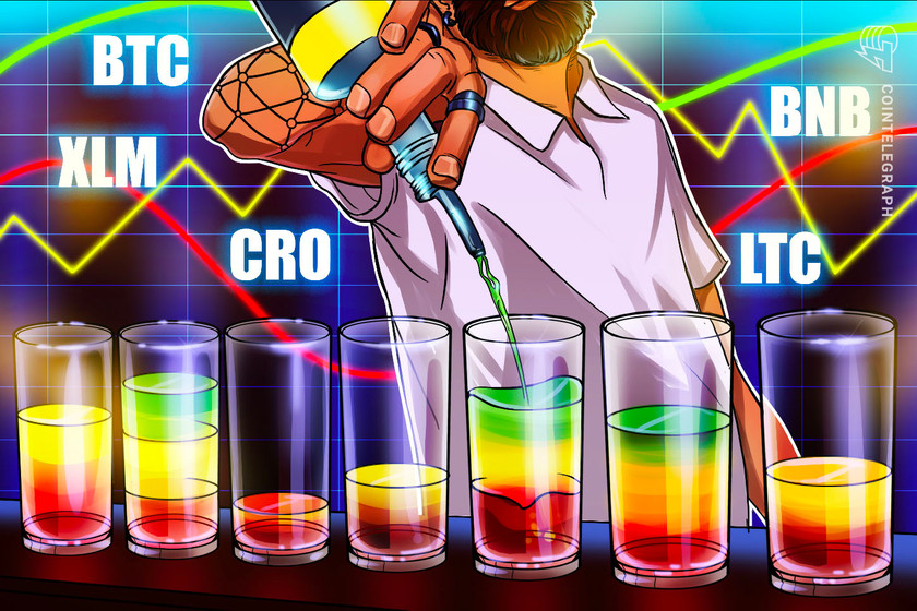 Top 5 cryptocurrencies to watch this week: BTC, XLM, CRO, BNB, LTC