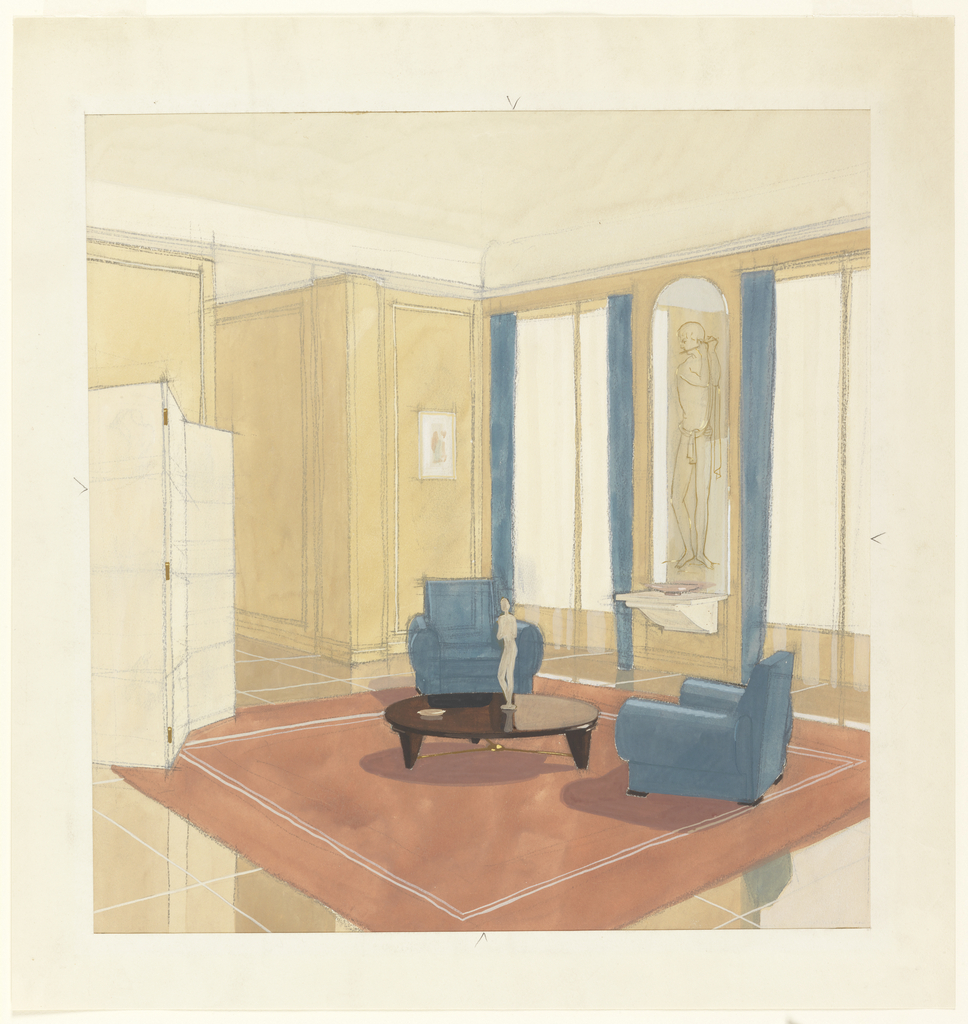 Salon Beige Org Drawing Design For A Salon With Blue Chairs And Mauve Carpet