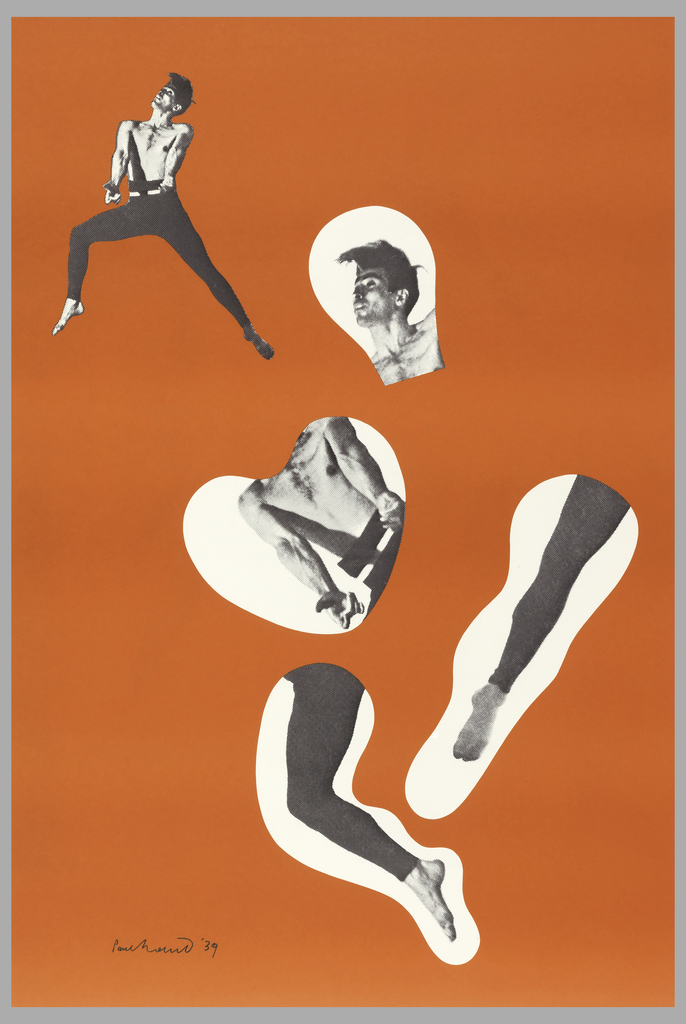 dancer on orange ground